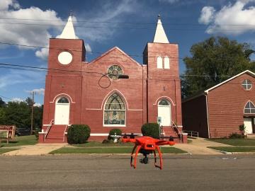 Capture aerial footage, Hunter Chapel, Tuscaloosa, AL